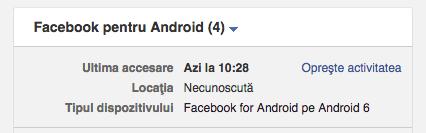 Facebook pentru android