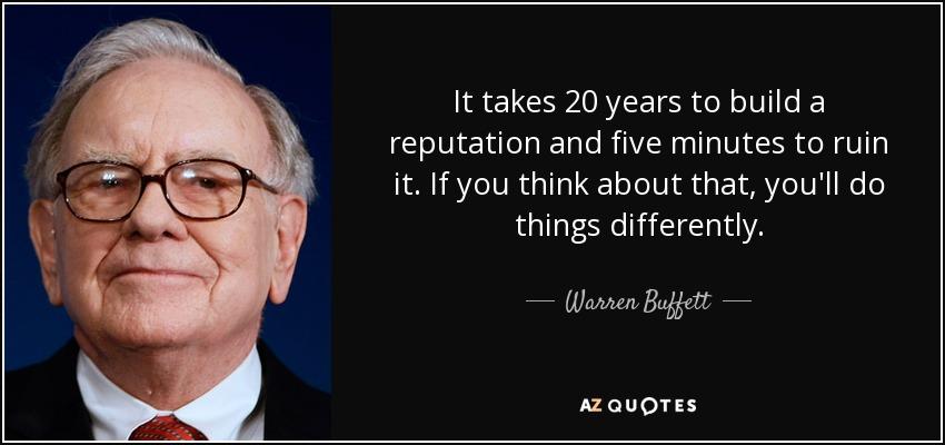 Warren Buffett - reputatie