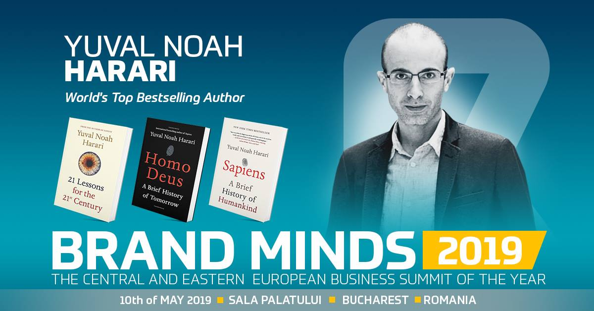 Yuval Harari autor Sapiens si Homo Deus vine la Brand Minds