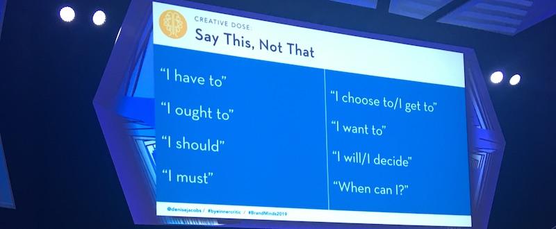 Denise Jacobs la Brand Minds, despre cuvintele  care să le schimbăm