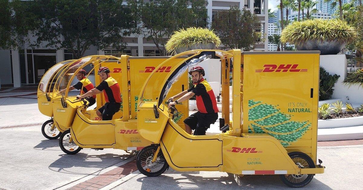 DHL GoGreen biciclete
